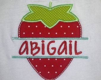Strawberry Nameplate Tee