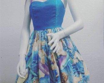 Pastel goth mermaids pin-up dress
