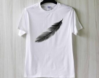 Feather Shirt T Shirt Tee Top TShirt