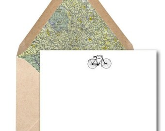 Set of 50 Bicycle Social Stationery