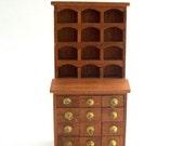 Miniature Shelf, Dollhouse Shelf, Miniature Cabinet, Dollhouse Cabinet, Miniature Apothecary, Apothecary Drawers Apothecary Cabinet, Vintage