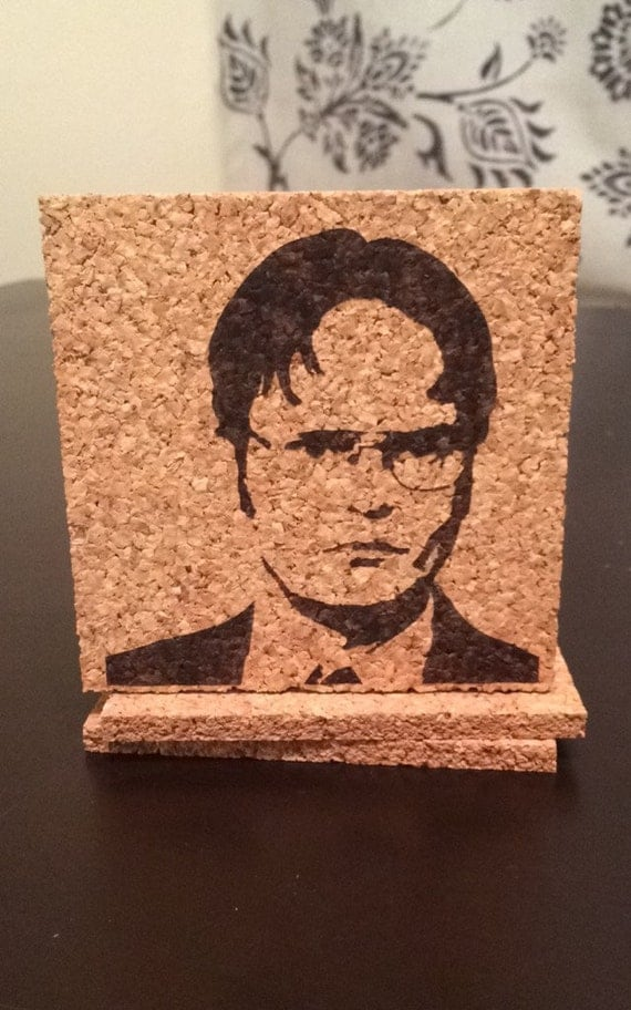 The Office Coasters Set Of Four Dwight Shrute