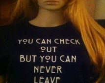 You Can Check Out But You Can Never Leave 64 t-shirt or tank top, Horror, Horror tees