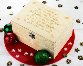 Christmas Eve Box - Personalised Poem - Personalised Keepsake Box - Christmas Gifts - Memory Box - Wooden Keepsake Box - LC088