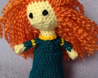 Brave's Merida Disney Princess Amigurumi Yarn Crochet Doll