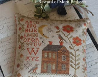 Pattern: Bittersweet September - Reward of Merit Cross Stitch by Blackbird Designs