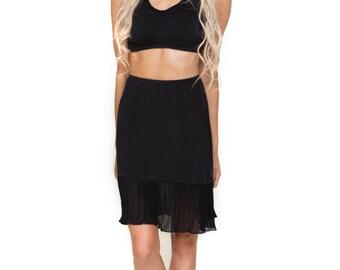 Black Chiffon Dress Extender Slip