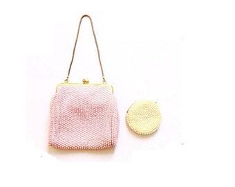 60's Bead Bag + Coin Purse | Play Purse Style | Retro Mini Bag | Spring
