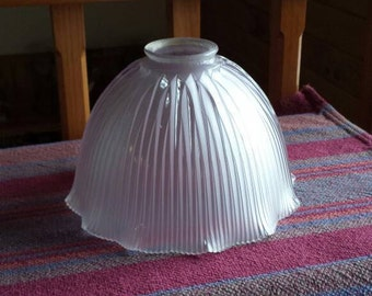 Antique Holophane Glass Lamp Shade XE60   D807