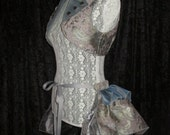 25% OFF - Stormy Skies Long Steampunk Bustle Ruffle in Luxe Brocades