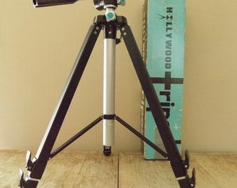 Vintage Acme-Lite Ensign Master Deluxe Channel Tripod | Acme Lite Hollywood Tripod Chicago | Telescoping Tripod