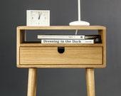 Mid-Century Scandinavian Side Table / Nightstand - Modern Made in solid American oak
