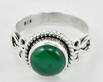 Malachite Ring, stone ring, 925 Sterling Silver Malachite Gemstone Ring Jewelry, Green Malachite Jewelry, Designer Ring, Gift Ring