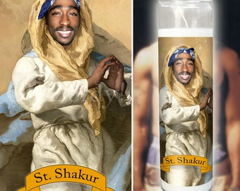 Tupac Shakur (2pac) Prayer Candle