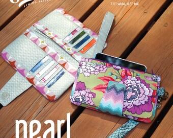 Swoon Patterns: Pearl Wallet Clutch - PDF Vintage Wallet Bifold Wristlet Sewing Pattern
