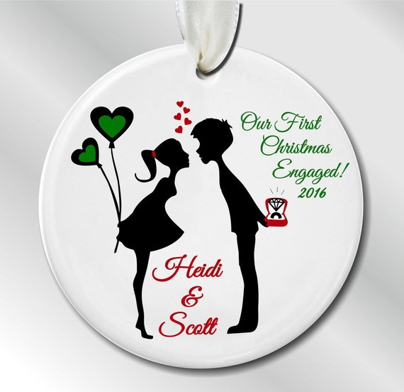 First Christmas ENGAGED Personalized Christmas By