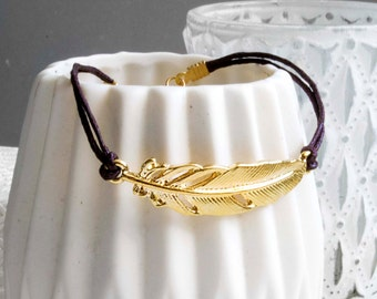Spring bracelet brown/gold
