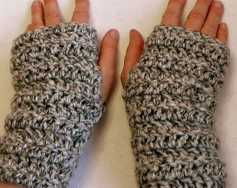 Fingerless Gloves Gray Fingerless Gloves Gray Crocheted Fingerless Gloves Grey Fingerless Gloves Grey Crocheted Fingerless Gloves