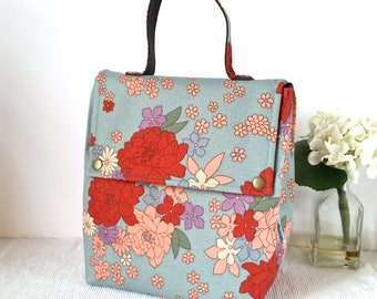 Insulated Lunch Bag / Fabric Lunch Bag / Lunch Box / Insulated Lunch Box