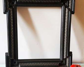Large Antique Victorian Mourning Frame - Circa 1880
