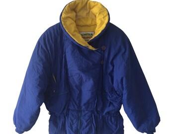 Waisted 90s Puffy Vintage Ski Jacket Size M E D I U M