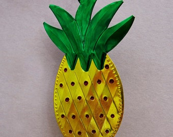 Mexican Tin Pineapple Decoration