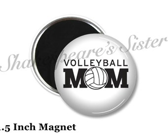 Volleyball Mom - Fridge Magnet - Volleyball Magnet - 1.5 Inch Magnet - Kitchen Magnet