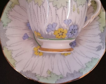 Royal Stafford Bone China Teacup. Beautiful, Subtle Colors. Made in England