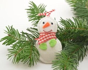 Snowman, Christmas decoration, Christmas tree decoration, handmade decoration, Felt decoration, Felt Christmas ornament, snowman ornament