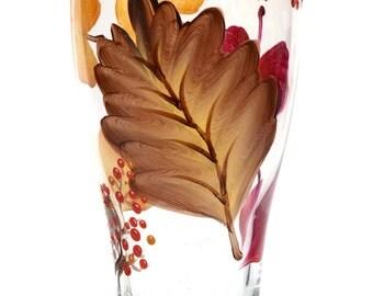 Autumn Leaves Pilsner Glass