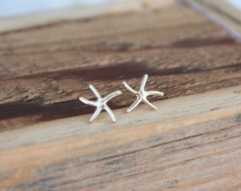 Gold Starfish post earrings, Small Starfish Anchor Earrings , Gold Starfish, Minimalist Gold Jewelry, Gold Earrings, Modern Jewelry