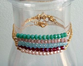 Delicate Gold Beaded Bracelets