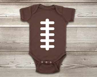 Football ONESIES ® Brand Bodysuit Baby Bodysuit Football Shirt Baby Football Jersey Football Baby Shower Football Baby Outfit