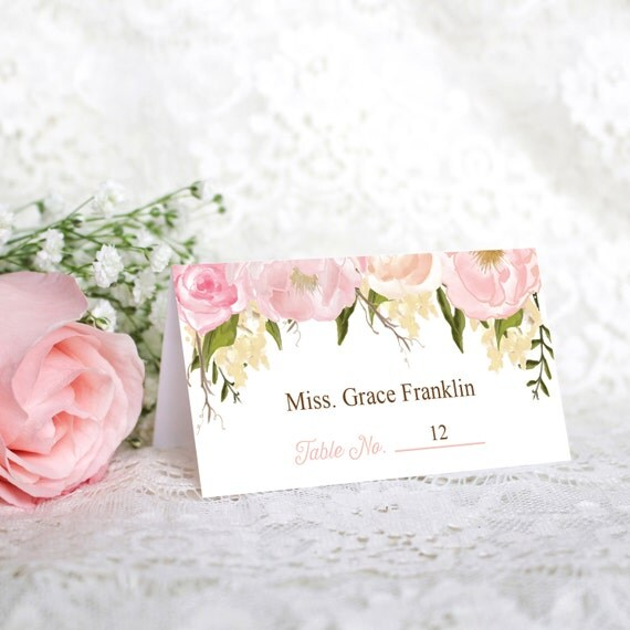 Wedding place cards diy printable wedding by for Place card for wedding
