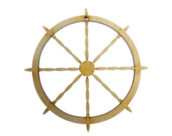 Ship Wheel Ornament - Nautical Ornament - Nautical Decor - Ship Wheel Ornaments - Nautical Decor - Sailing Ornament - Personalized Free