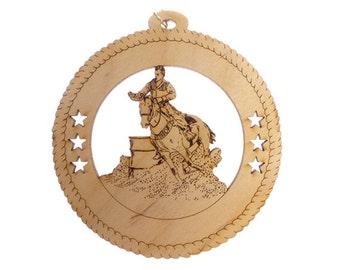 Horse Ornament, Male Barrel Racing - Barrel Racing Gift - Barrel Racing Gifts - Horse Decor - Equestrian Decor - Personalized Free