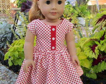 Reversible Retro 50s fits American Girl Doll and 18 inch dolls