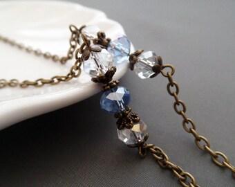 Blue Crystal Eyeglasses Chain - Eyeglasses Chain - Glasses Chain - Eyeglasses Holder - Eyeglasses Leash - Lanyard