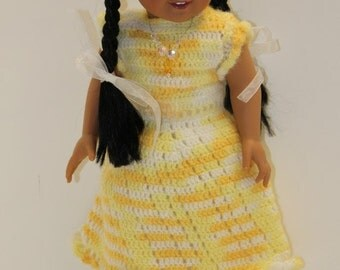 Shades of Yellow Summertime Doll Dress for 18 inch Dolls