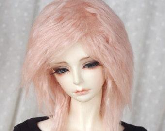 magic unicorn cotton pink BJD doll fur wig SD MSD yosd