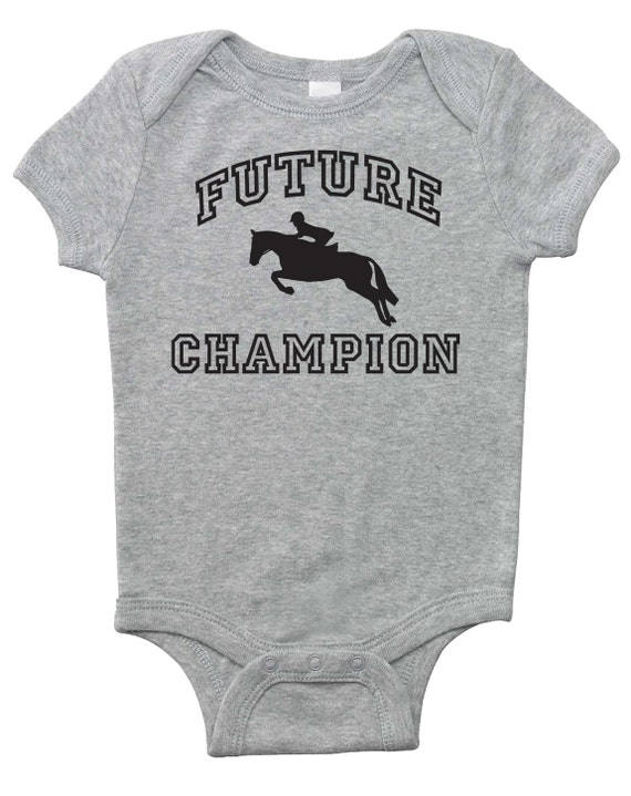 Future Hunter Jumper Champion Baby Horse Onesie for Infant Boys, Girls, and Surprises - Baby Shower Gift - Equestrian Clothing