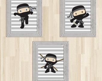 Ninja Wall Art, Ninja Nursery, Karate Wall Art, Karate Nursery, Karate Art, Ninja Art, Karate Print, Ninja Print