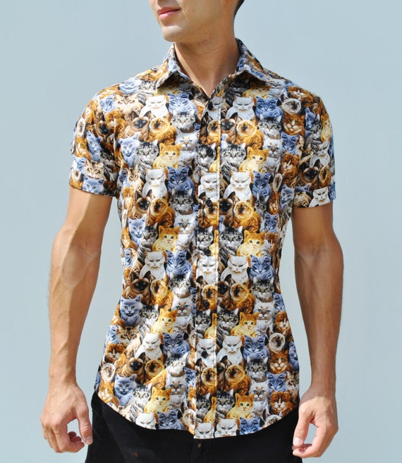 Tan Dino Icon Woven Button Up Shirt