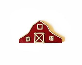 Red Barn Magnet - Farm Magnet - Polymer Clay Magnet - Farmhouse Decor - Kitchen Magnet - Refrigerator Magnet - Fridge Magnet - Farmer Gift