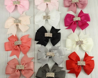 Grosgrain Bow with Rhinestones
