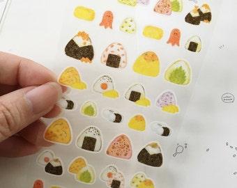 Onigiri Rice Ball Stickers Sheet