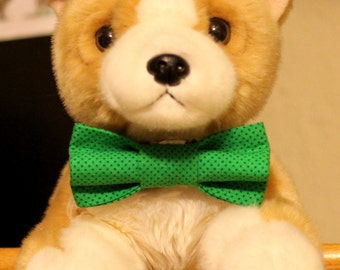 St. Paddy's Day or any day green bow ties in a variety of shades & patterns.