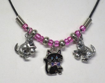 Kitten necklace CCS135