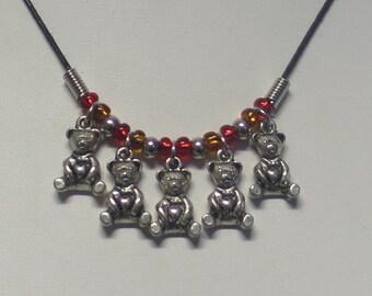 Teddy Bear Picnic charm necklace