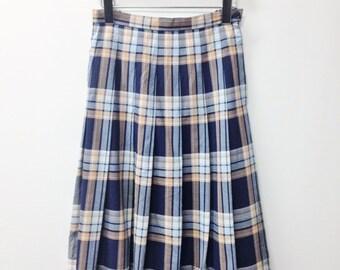 SALE 90s Pleated Plaid Skirt Midi Length Grunge Clothing